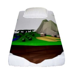 Low Poly 3d Render Polygon Fitted Sheet (single Size)