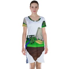 Low Poly 3d Render Polygon Short Sleeve Nightdress