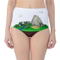Low Poly 3d Render Polygon High Waist Bikini Bottoms