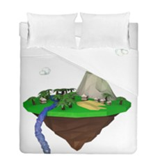Low Poly 3d Render Polygon Duvet Cover Double Side (full/ Double Size)