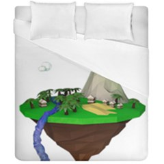 Low Poly 3d Render Polygon Duvet Cover Double Side (california King Size)