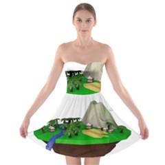 Low Poly 3d Render Polygon Strapless Bra Top Dress