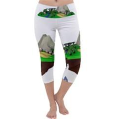 Low Poly 3d Render Polygon Capri Yoga Leggings