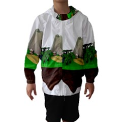 Low Poly 3d Render Polygon Hooded Wind Breaker (kids)