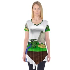 Low Poly 3d Render Polygon Short Sleeve Tunic