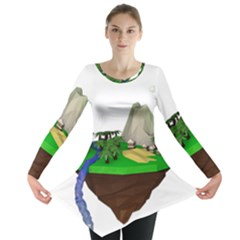 Low Poly 3d Render Polygon Long Sleeve Tunic