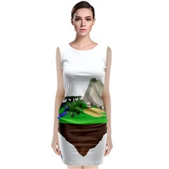 Low Poly 3d Render Polygon Classic Sleeveless Midi Dress