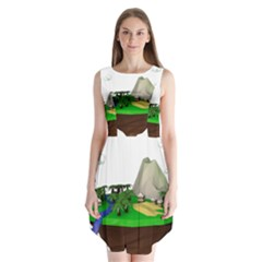 Low Poly 3d Render Polygon Sleeveless Chiffon Dress