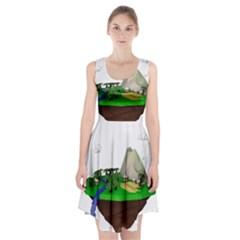 Low Poly 3d Render Polygon Racerback Midi Dress