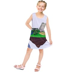 Low Poly 3d Render Polygon Kids  Tunic Dress