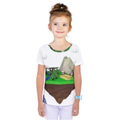 Low Poly 3d Render Polygon Kids  One Piece Tee