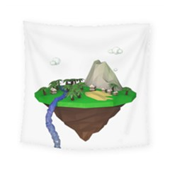 Low Poly 3d Render Polygon Square Tapestry (small)