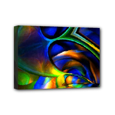 Light Texture Abstract Background Mini Canvas 7  X 5