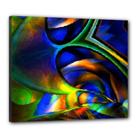 Light Texture Abstract Background Canvas 24  X 20