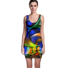 Light Texture Abstract Background Sleeveless Bodycon Dress