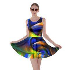 Light Texture Abstract Background Skater Dress