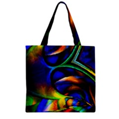 Light Texture Abstract Background Zipper Grocery Tote Bag