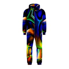 Light Texture Abstract Background Hooded Jumpsuit (Kids)
