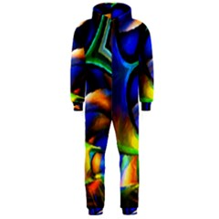 Light Texture Abstract Background Hooded Jumpsuit (men)