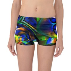 Light Texture Abstract Background Reversible Bikini Bottoms