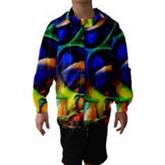 Light Texture Abstract Background Hooded Wind Breaker (kids)