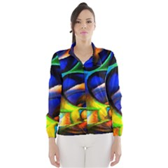Light Texture Abstract Background Wind Breaker (women)