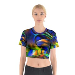 Light Texture Abstract Background Cotton Crop Top