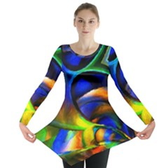 Light Texture Abstract Background Long Sleeve Tunic