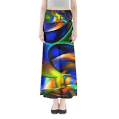 Light Texture Abstract Background Maxi Skirts