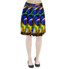Light Texture Abstract Background Pleated Skirt