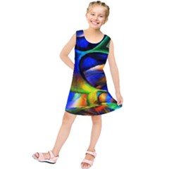 Light Texture Abstract Background Kids  Tunic Dress