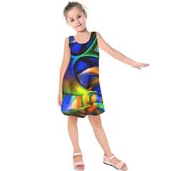 Light Texture Abstract Background Kids  Sleeveless Dress