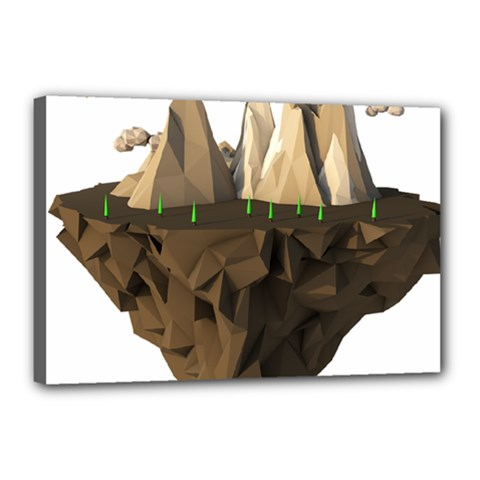 Low Poly Floating Island 3d Render Canvas 18  X 12