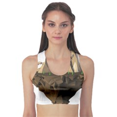 Low Poly Floating Island 3d Render Sports Bra