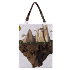 Low Poly Floating Island 3d Render Classic Tote Bag