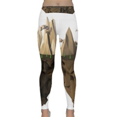 Low Poly Floating Island 3d Render Classic Yoga Leggings