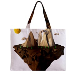 Low Poly Floating Island 3d Render Zipper Mini Tote Bag