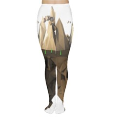 Low Poly Floating Island 3d Render Women s Tights