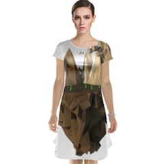 Low Poly Floating Island 3d Render Cap Sleeve Nightdress