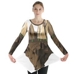 Low Poly Floating Island 3d Render Long Sleeve Tunic