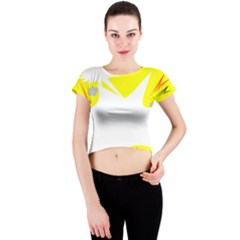 Mail Holyday Vacation Frame Crew Neck Crop Top