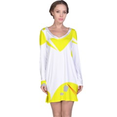 Mail Holyday Vacation Frame Long Sleeve Nightdress