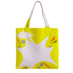 Mail Holyday Vacation Frame Zipper Grocery Tote Bag