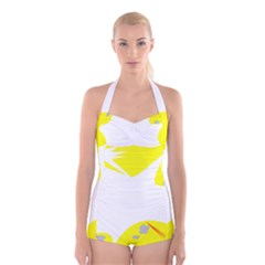 Mail Holyday Vacation Frame Boyleg Halter Swimsuit
