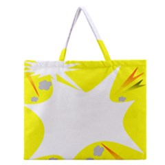 Mail Holyday Vacation Frame Zipper Large Tote Bag