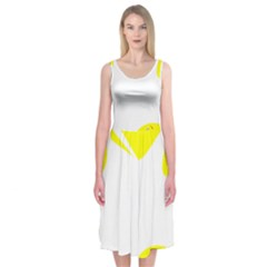 Mail Holyday Vacation Frame Midi Sleeveless Dress