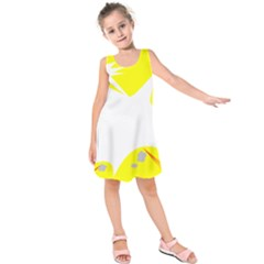 Mail Holyday Vacation Frame Kids  Sleeveless Dress