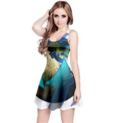 Migration Of The Peoples Escape Reversible Sleeveless Dress