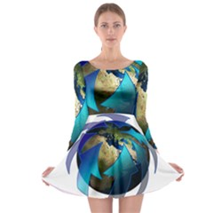 Migration Of The Peoples Escape Long Sleeve Skater Dress