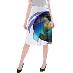 Migration Of The Peoples Escape Midi Beach Skirt